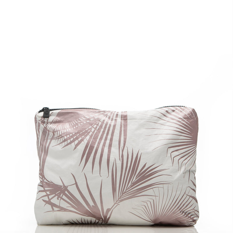 Mid Day Palms Pouch / Rose Gold