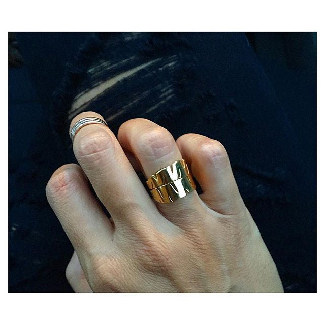 Keani Jewelry Lush Banana Leaf Ring in Gold, Lau Nani Line Maui, Hawaii