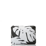 Monstera Pouch / Black on White