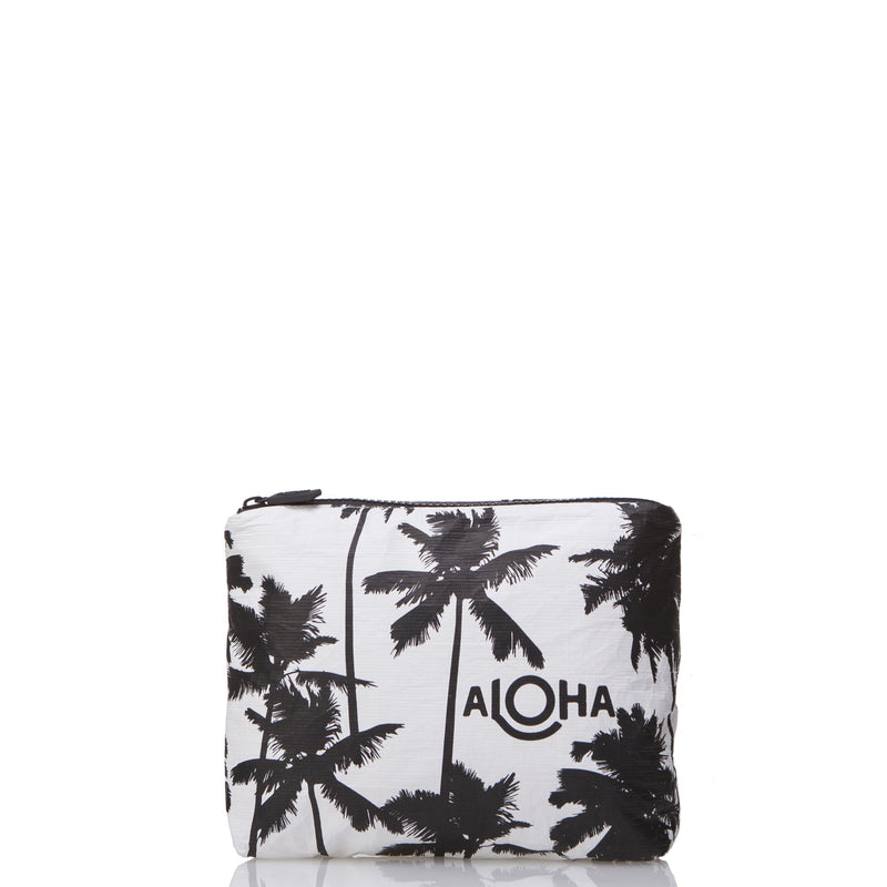 Small Coco palms Pouch Black / White