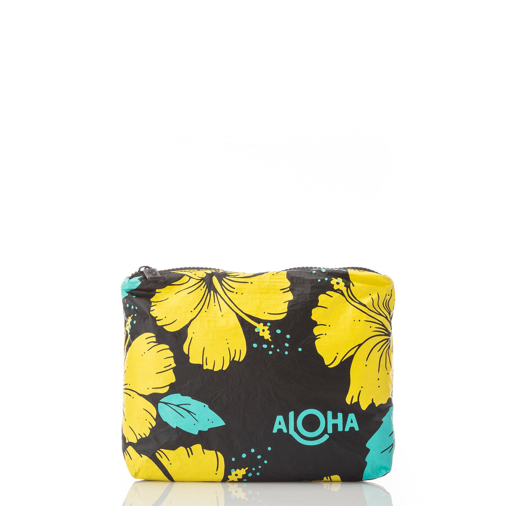 Hibiscus Canary Pouch / Black