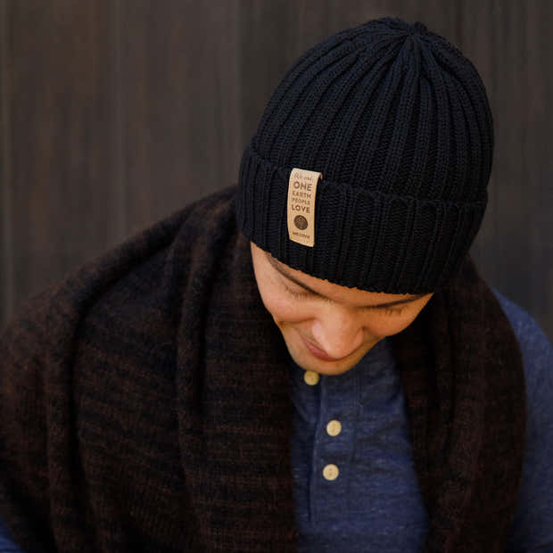 WE ARE ONE COTTON BEANIE   BLACK 1