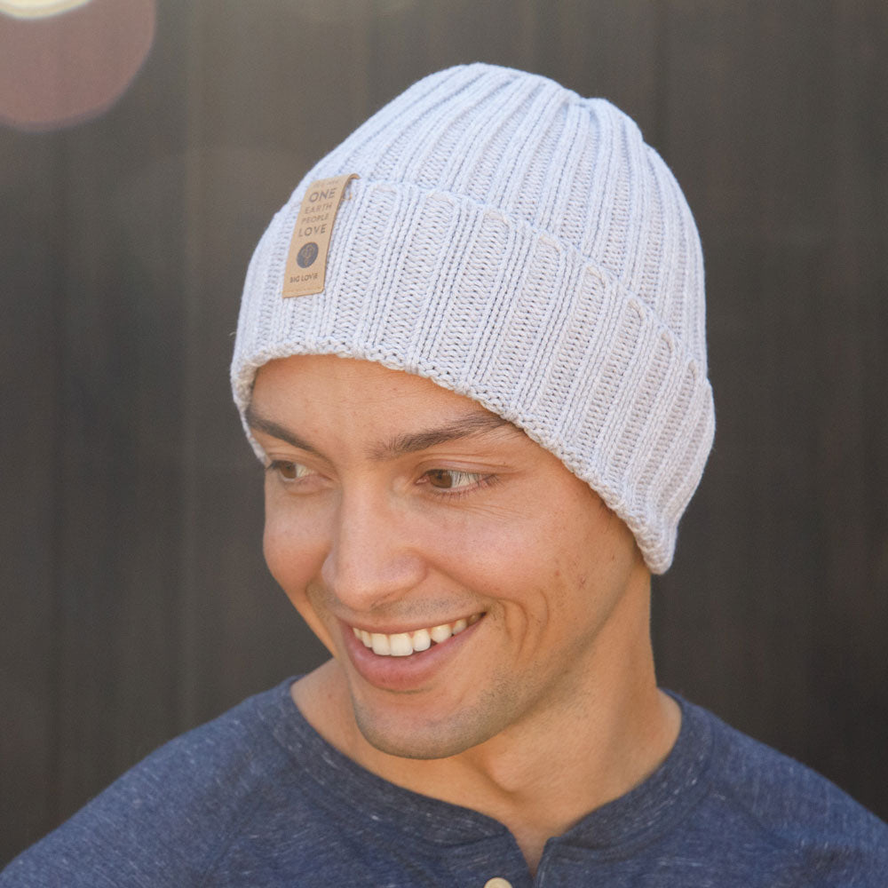 WE ARE ONE COTTON BEANIE | GRAY
