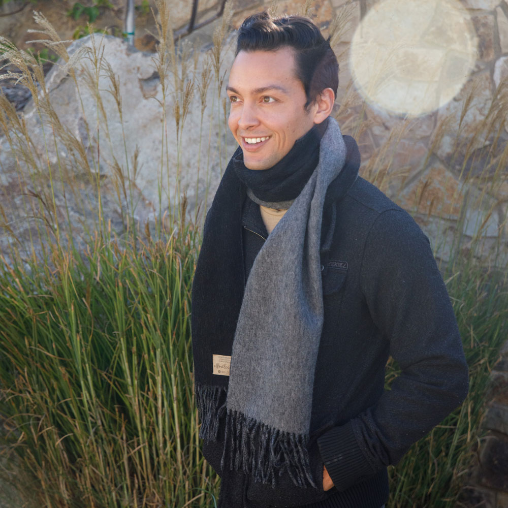 PURPOSEFUL SCARF | BLACK + GRANITE