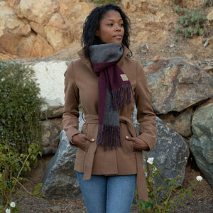 PURPOSEFUL SCARF | CRANBERRY + GRANITE