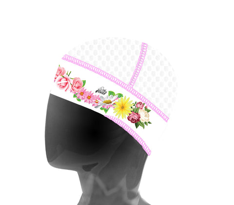 White/Pink Mesh Floral