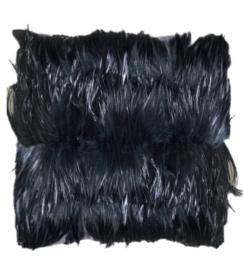 Rooster schlappen Feathered Decor Pillow