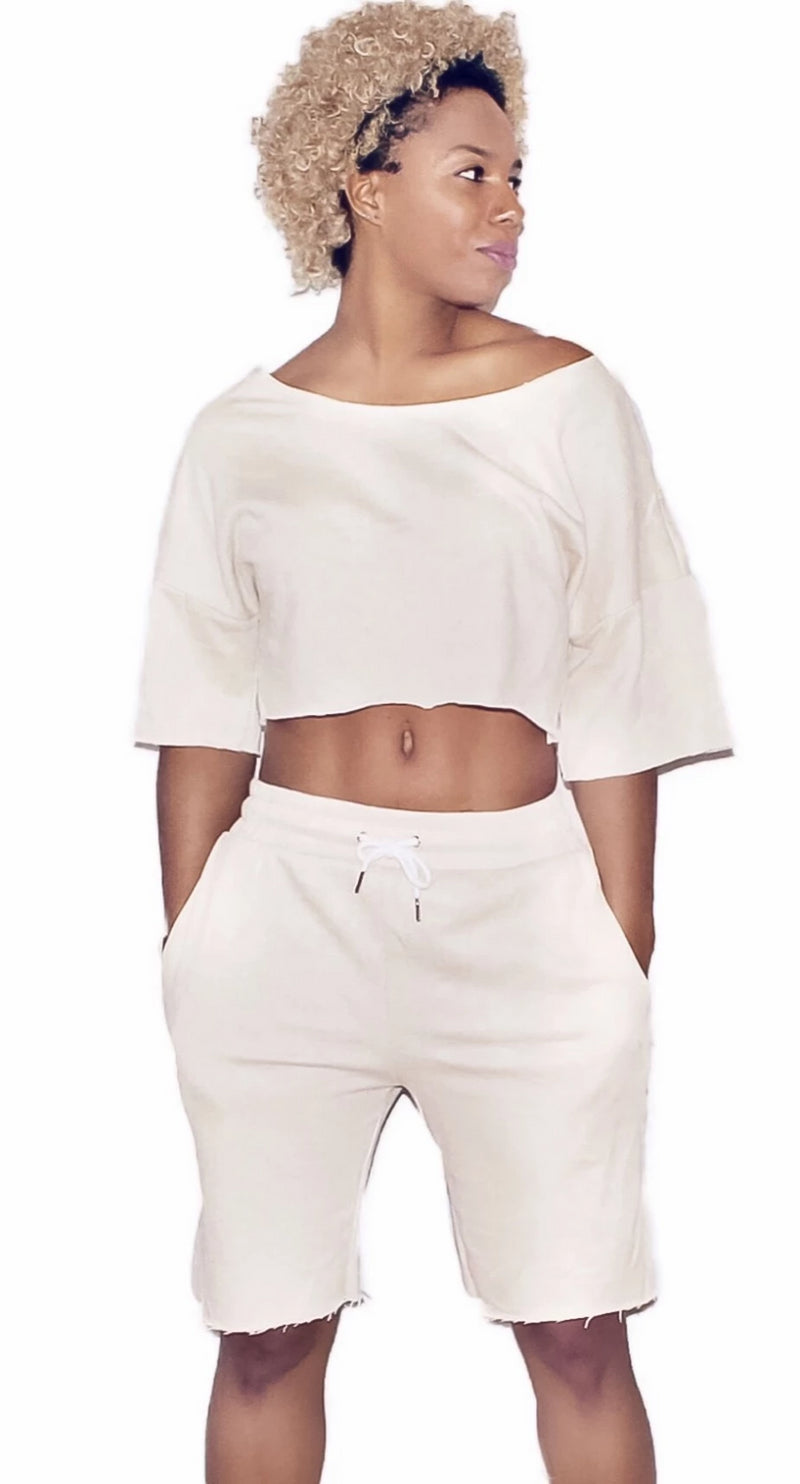 Jade Cropped Jogger Set