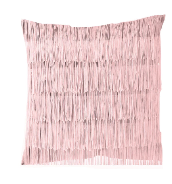 All that Jazz- Satin Fringe Decorative Throw Pillow