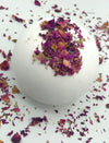 Anti Aging - Rose + Dried Rose Petals Organic Bath Bombs