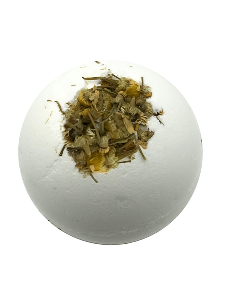 Calming - Chamomile + Dried Chamomile Flowers Organic Bath Bombs