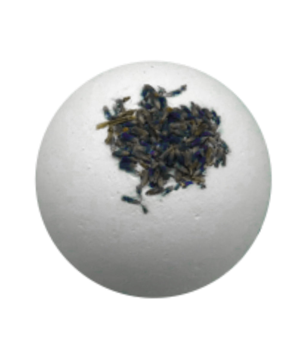 Relaxing - Lavender + Dried Lavender Buds Organic Bath Bombs