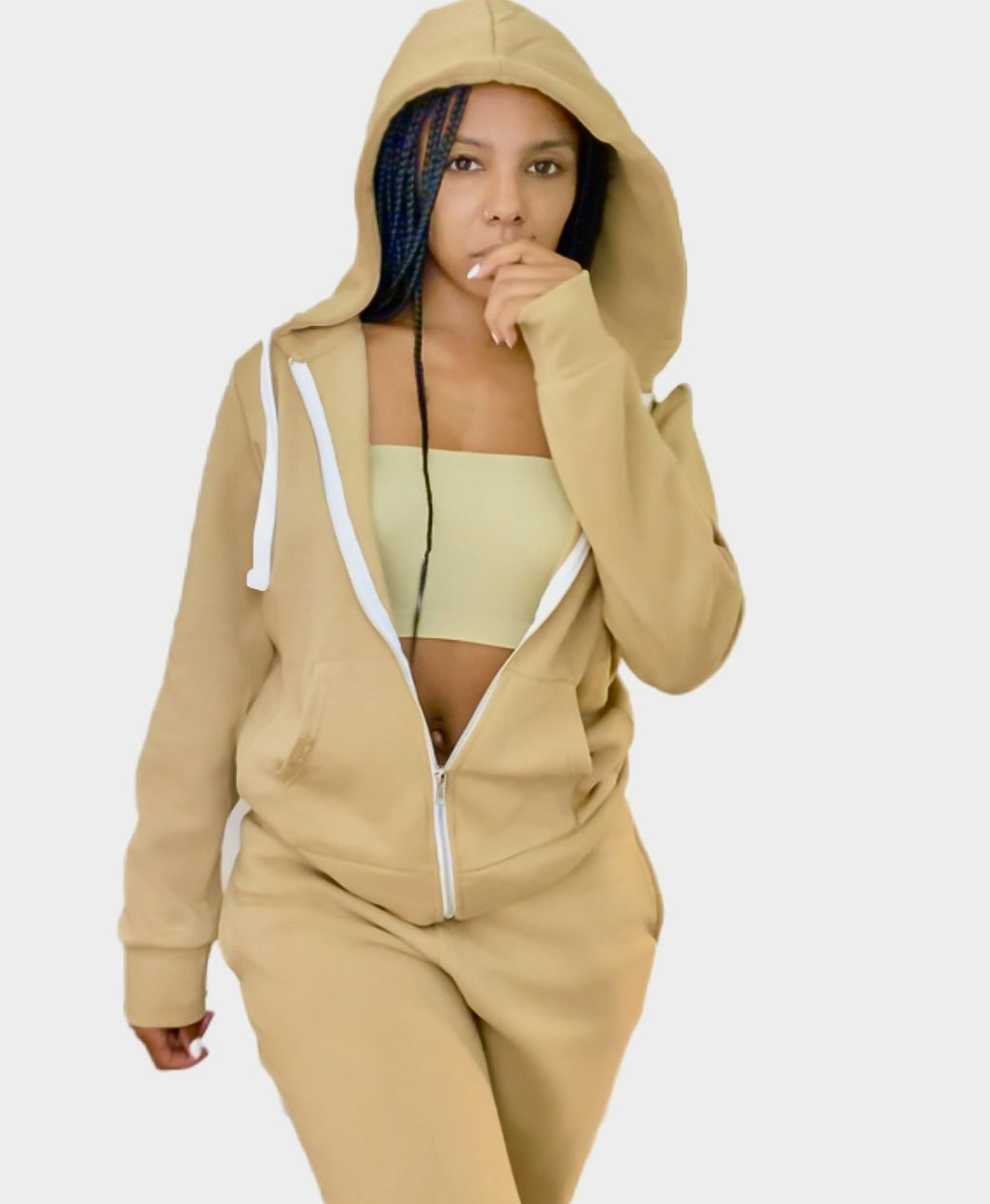 Jade Jogger Zip Up Hoodie Set