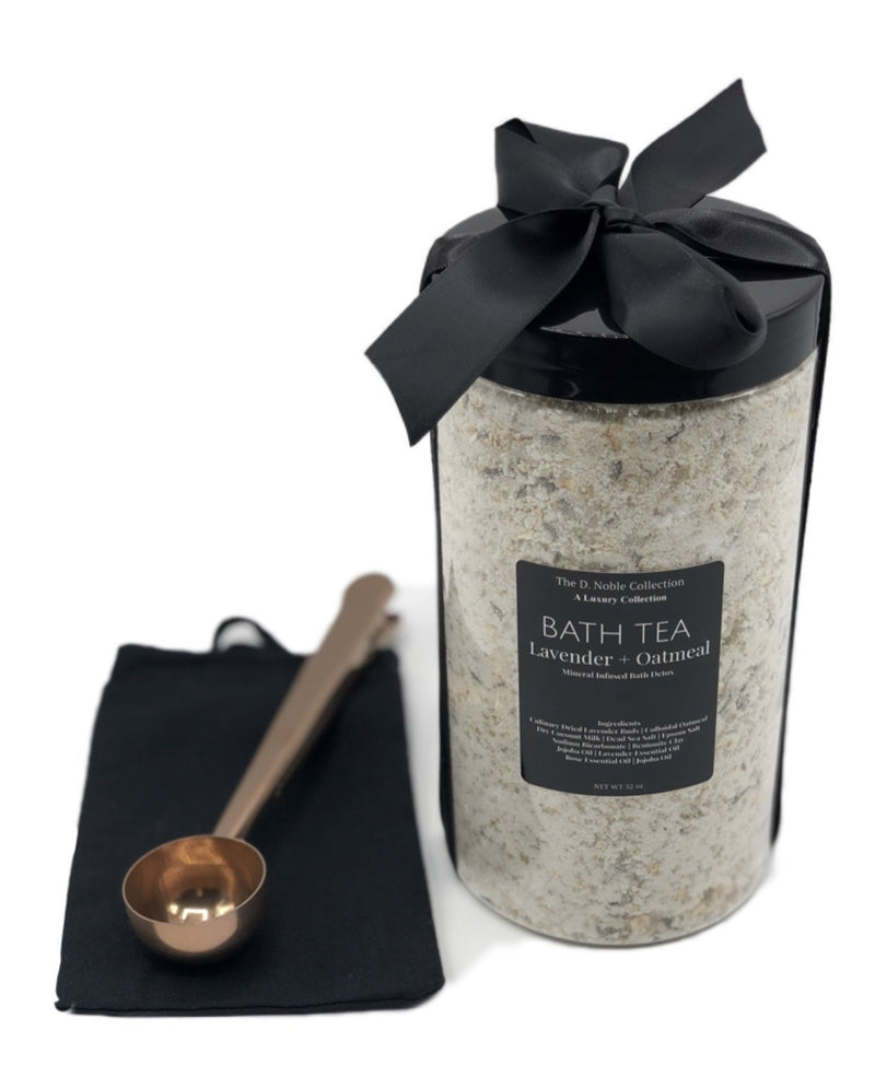 Lavender+Oatmeal Mineral-Infused Bath Tea Soak Detox