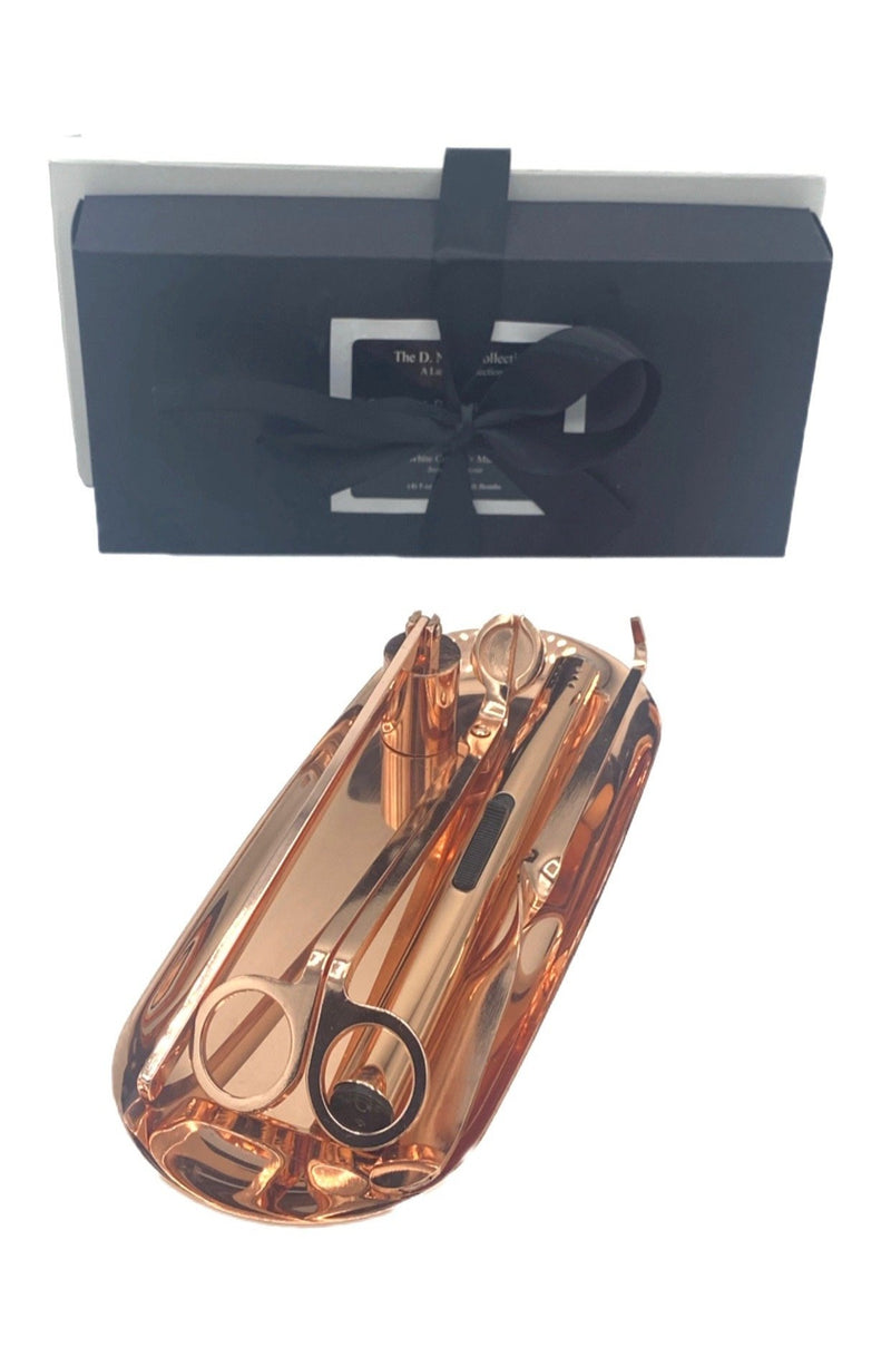 Rose Gold Candle Grooming Set