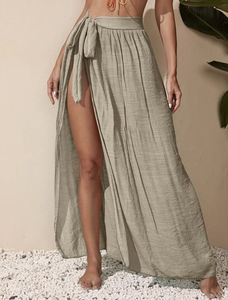 Tina Cover Up Skirt Tan
