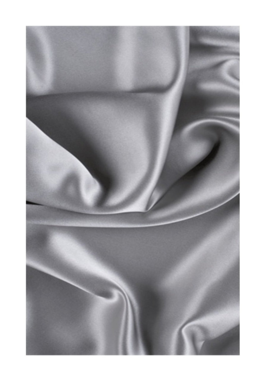 Grey 100% Mulberry Silk Hair Scarves