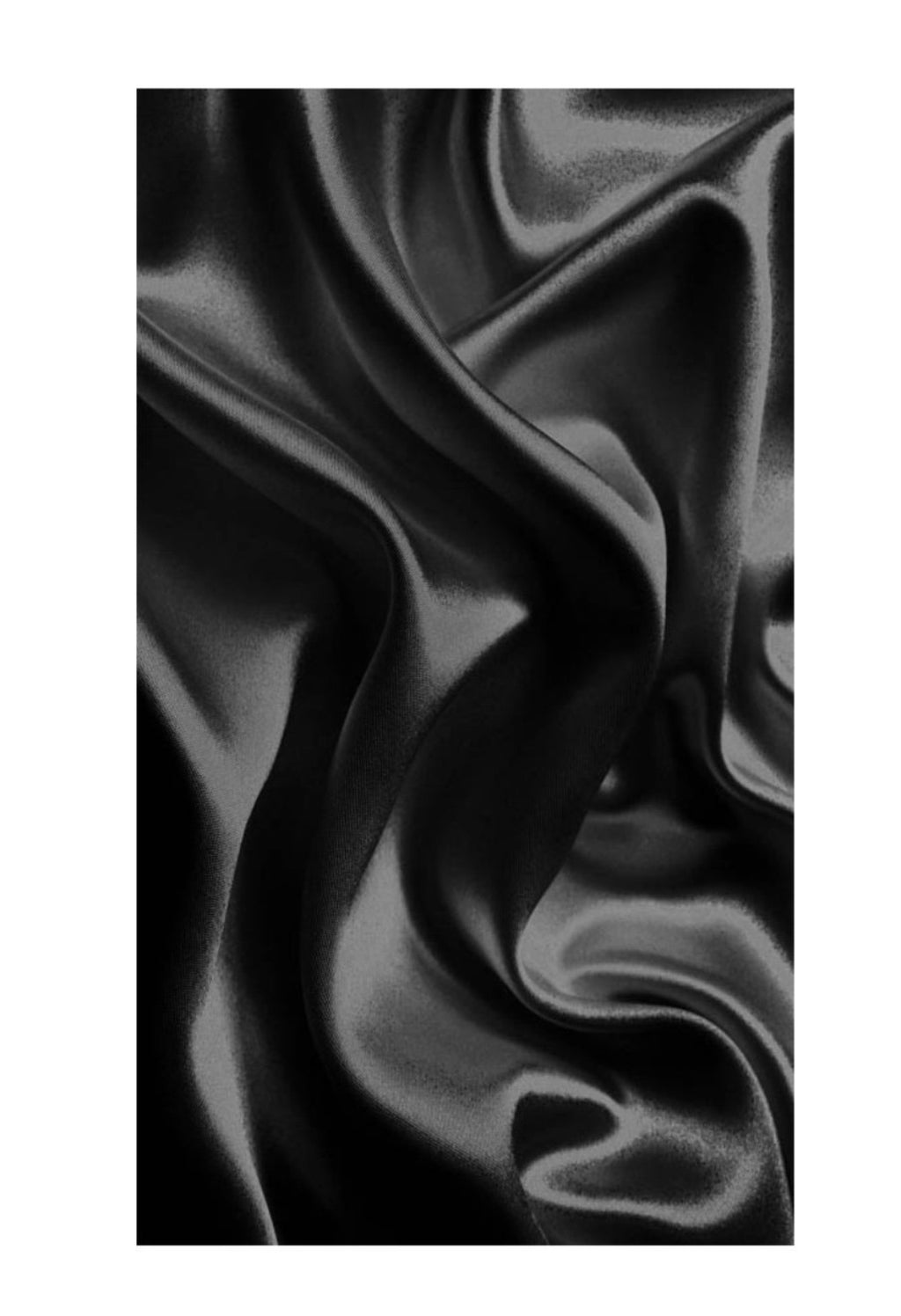Black 100% Mulberry Silk Hair Scarves