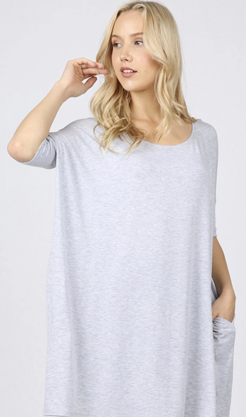 Brittany Oversized Nightshirt with Pockets