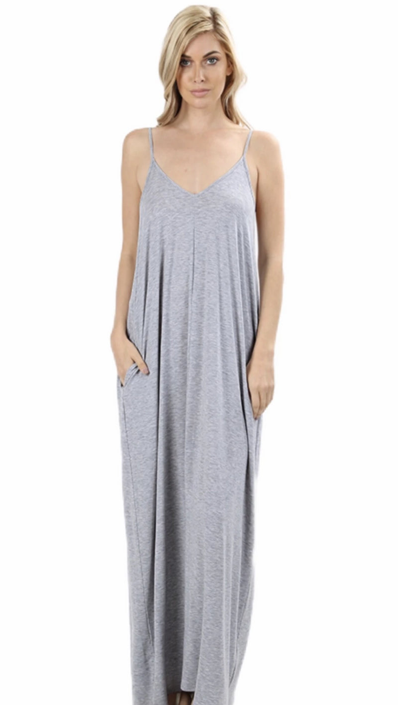 Bella Maxi Lounger Dress with Pockets