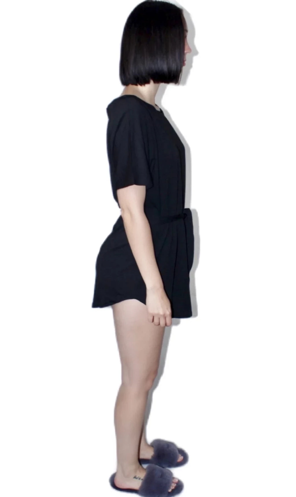 Eve Oversized Night T-Shirt with Matching Waist Tie
