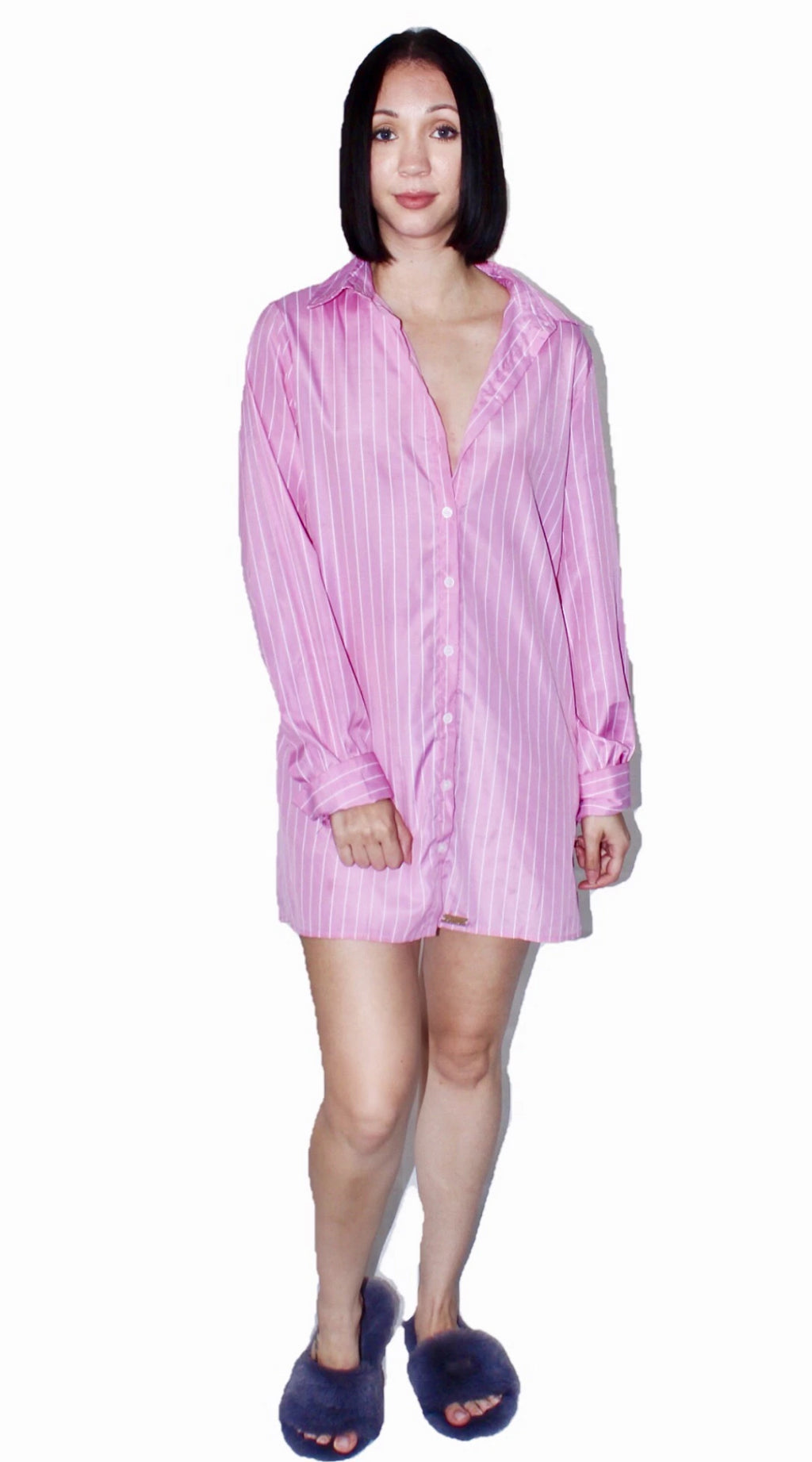 Ryan Oversized Striped Button Down Shirt