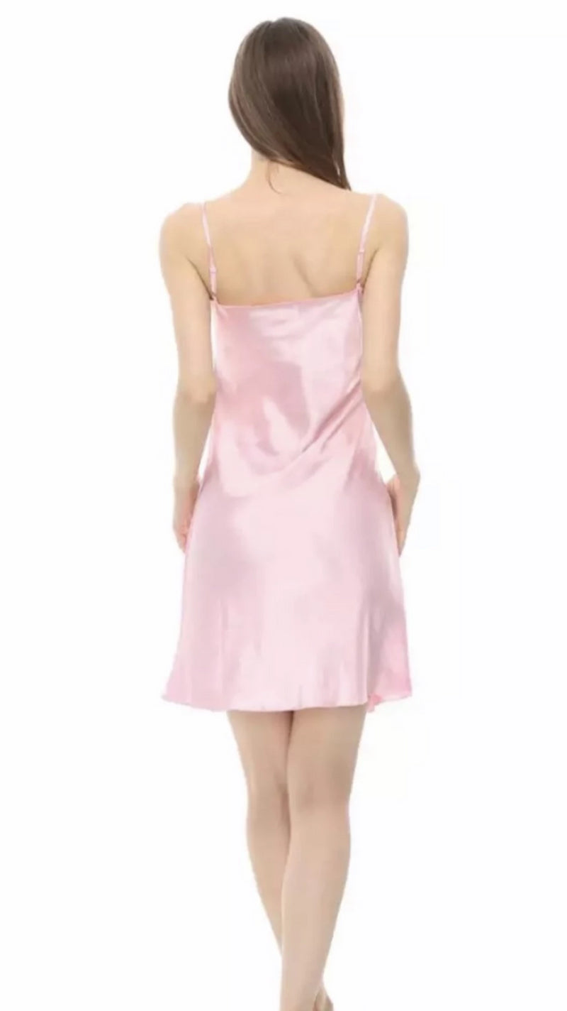 Nina 100% Mulberry Silk Chemise Short Nightgown