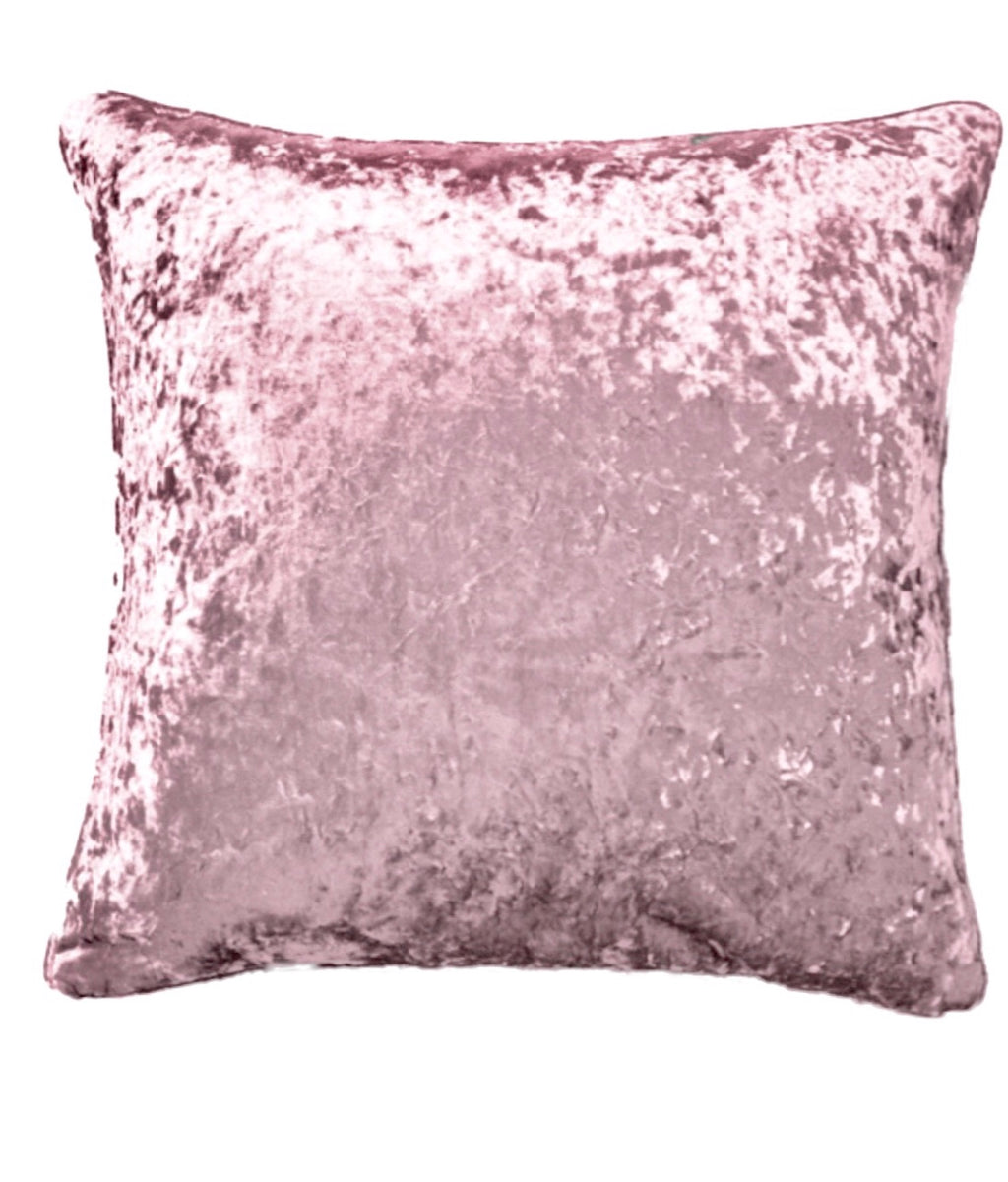 Crush on You- Crushed Velvet Decor Throw Pillow