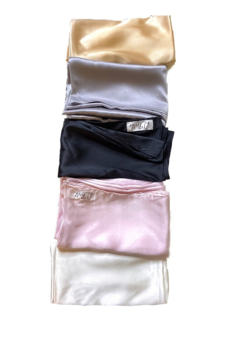 Champagne 100% Mulberry Silk Hair Scarves