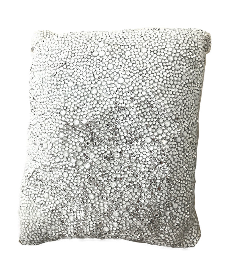 Heir Chrystal - Hand Beaded Decorative Throw Pillow