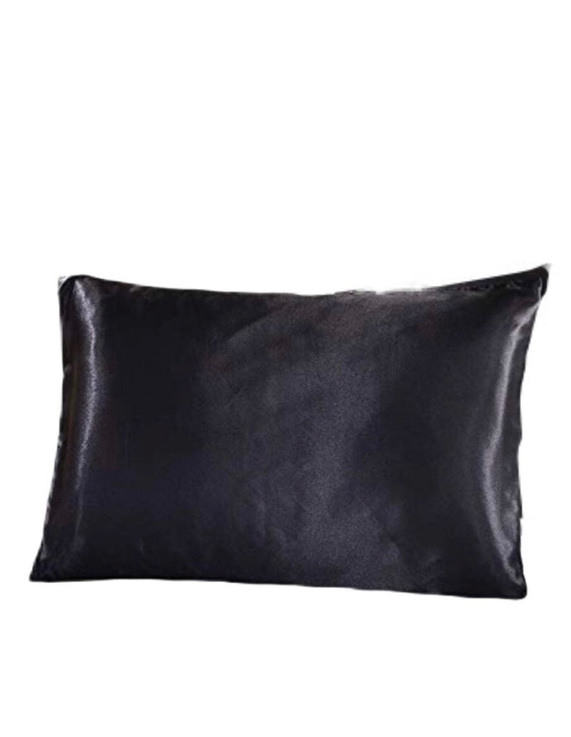 Black Mulberry Silk Beauty Pillow Cover