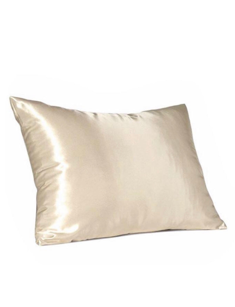 Champagne 100% Mulberry Silk Beauty Pillow Cover