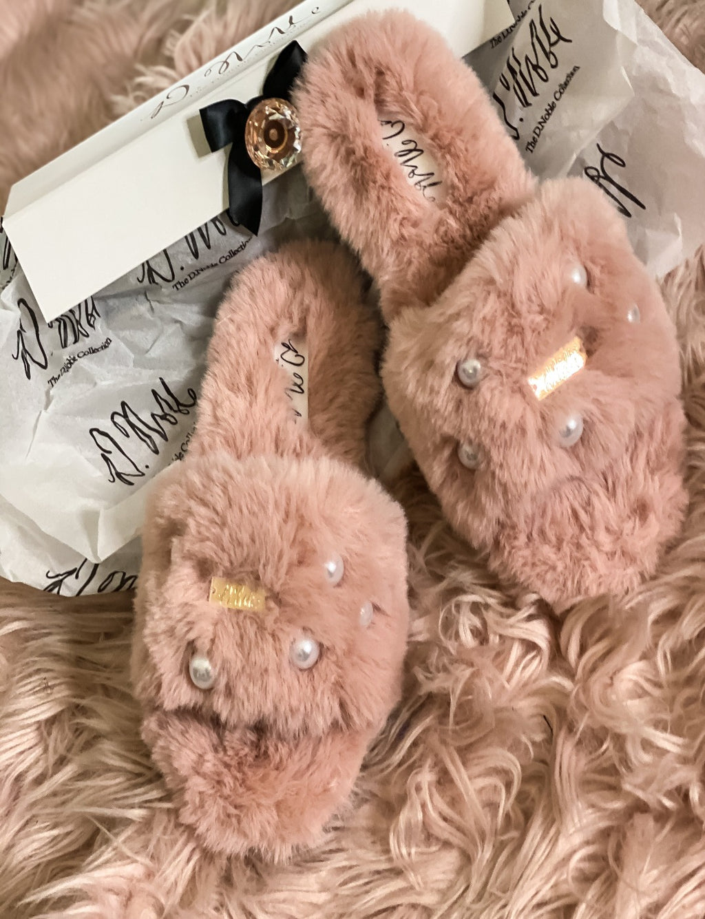 Pearl Faux- Fur Comfort Slippers