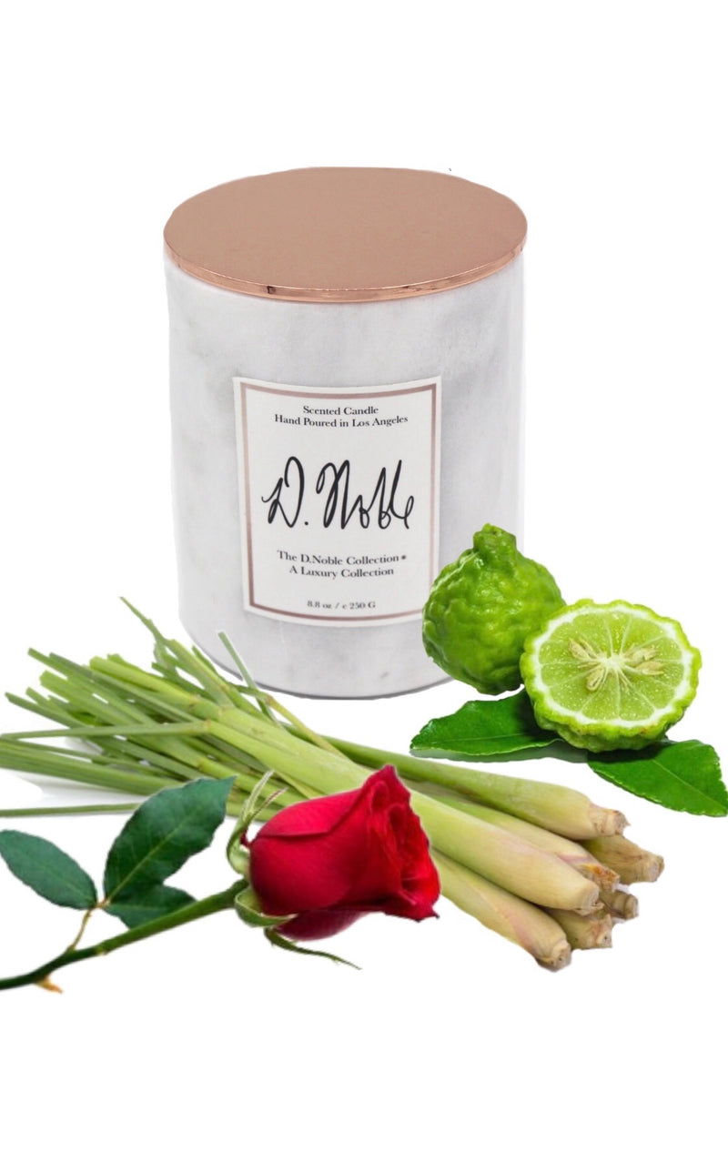 Royal Rest Therapeutic Aromatherapy Candle - Bergamot + Rose + Lemongrass