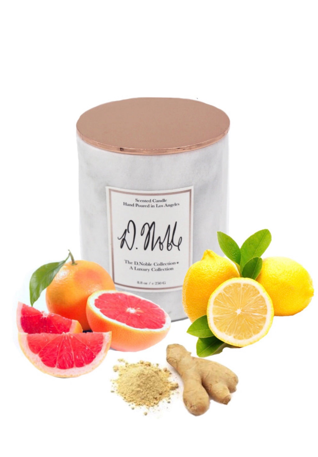 Rise and Shine Therapeutic Aromatherapy Candles - Grapefruit + Ginger + Lemon