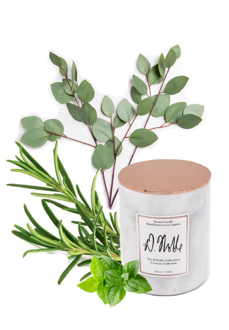 Rise and Shine Therapeutic Aromatherapy Candles- Eucalyptus + Rosemary + Peppermint