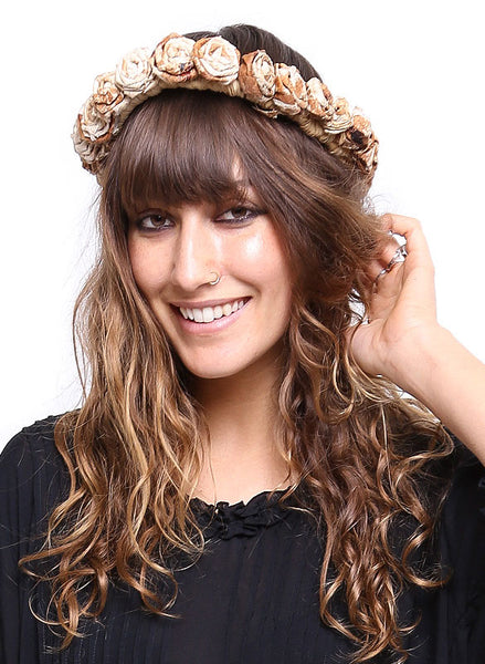 Hemp Flower Headpiece - Me - BeHoneyBee.com