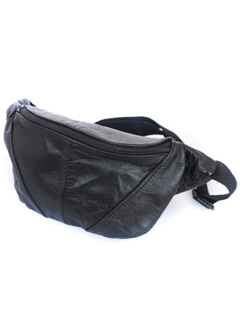 90's Black Leather Fanny Pack - Vintage - Vintage - BeHoneyBee.com - 1