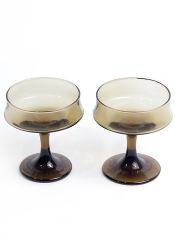 Brown Champagne Glass Set - Me - BeHoneyBee.com