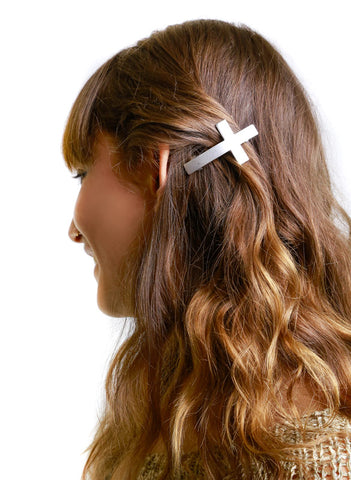 BHB Cross Hair Barrette - Me - BeHoneyBee.com - 1