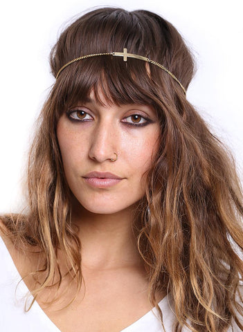 Cross Headpiece - Me - BeHoneyBee.com - 1