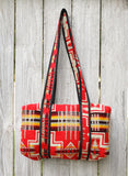 Red Handmade Ecuador Day Bag
