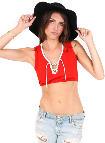 Dazed n' Confused Crop top - Vintage - BeHoneyBee.com - New & Vintage Pieces for your Home and Closet - BeHoneyBee.com - 1