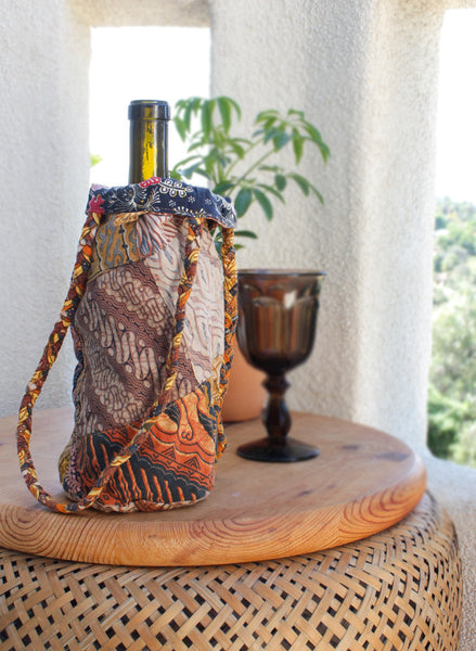 Bohemian Wine n' Water Tote - BeHoneyBee.com - New & Vintage Pieces for your Home and Closet - BeHoneyBee.com - 1