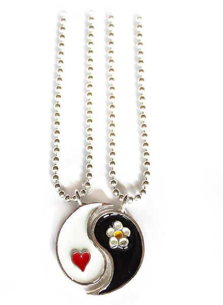 Yin Yang Friendship Necklace - BeHoneyBee - BeHoneyBee.com - 1