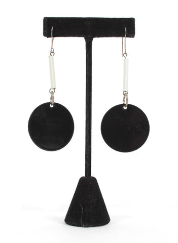 B&W earrings - Me - BeHoneyBee.com - 1