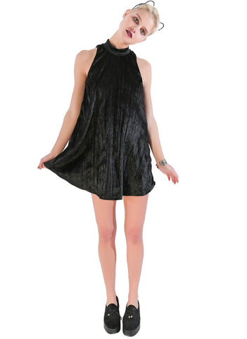 Crushed Velvet Night Moves Dress - Me - BeHoneyBee.com - 1