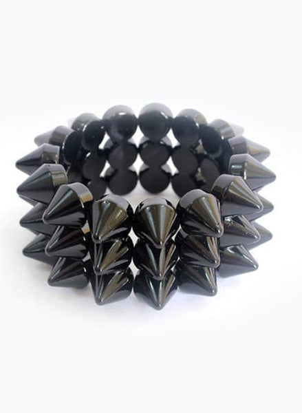 Spiked stud Stretch Bracelet (6 Colors) - Me - BeHoneyBee.com - 1