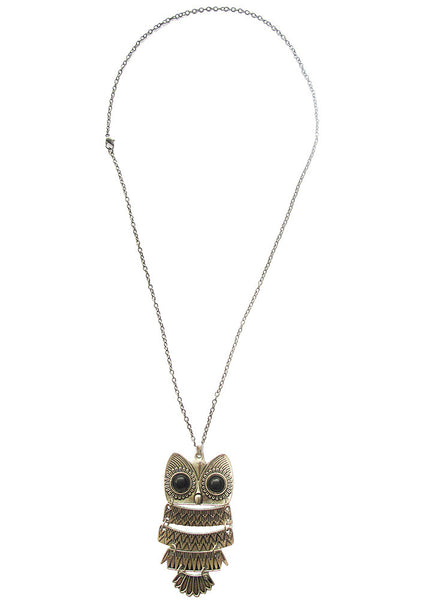 Soren The Owl Necklace - BeHoneyBee - BeHoneyBee.com - 1