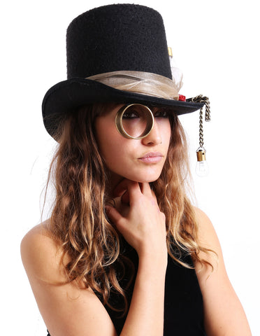 Steampunk Monical Top Hat - Me - BeHoneyBee.com - 1